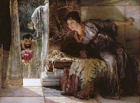 Welcome Footsteps - Well-Known Footsteps poster print by Sir Lawrence Alma-Tadema