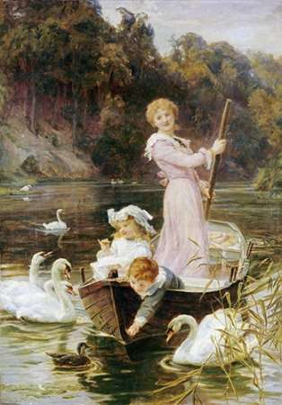 A Day On The River poster print by Frederick Morgan