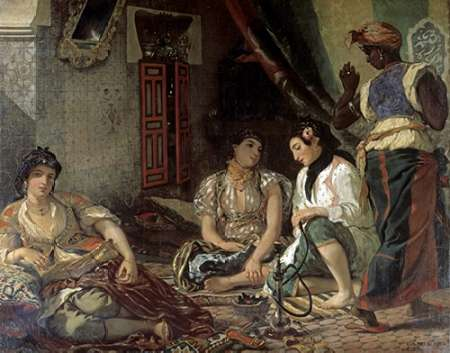 Algerian Women In Their Apartment poster print by Eugene Delacroix