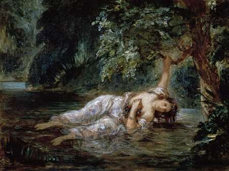 Death of Ophelia poster print by Eugene Delacroix