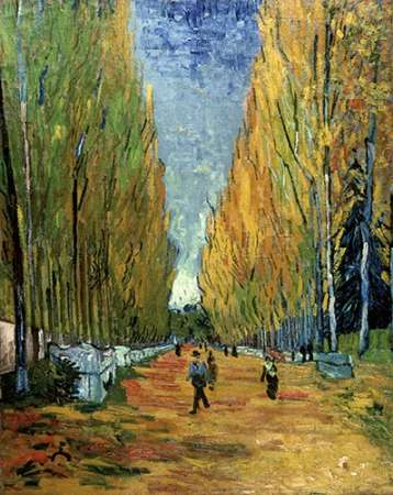 Allee des Alyscamps poster print by Vincent van Gogh