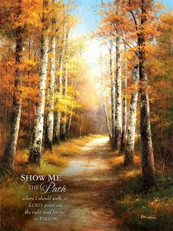 Birch Walk with Verse poster print by  Arcobaleno
