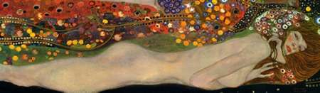 Sea Serpents III poster print by Gustav Klimt