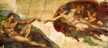 Creation Of Adam - 1 poster print by  Michelangelo