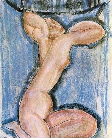 Caryatid 4 poster print by Amedeo Modigliani