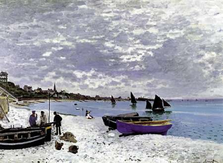 Beach At Sainte Adresse 1867 poster print by Claude Monet