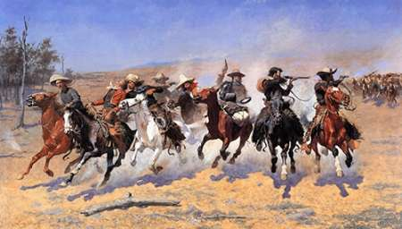 A Dash For Timber poster print by Frederic Remington