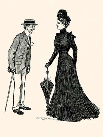 How Long Should I wear Mourning poster print by Charles Dana Gibson