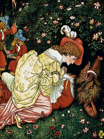 Beauty and the Beast - In the Woods poster print by Walter Crane