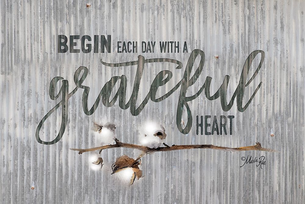 Grateful Heart poster print by Marla Rae