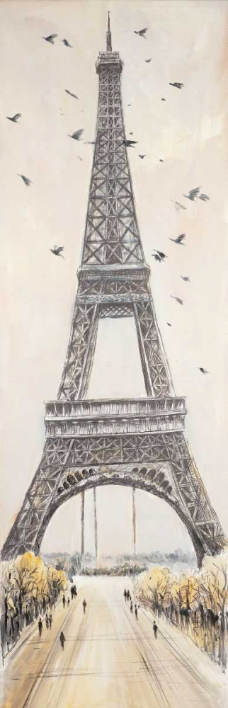 Eiffel Tower in Paris poster print by  Atelier B Art Studio