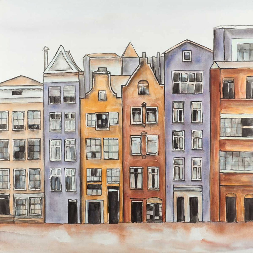 Amsterdam Houses Hotel  poster print by  Atelier B Art Studio