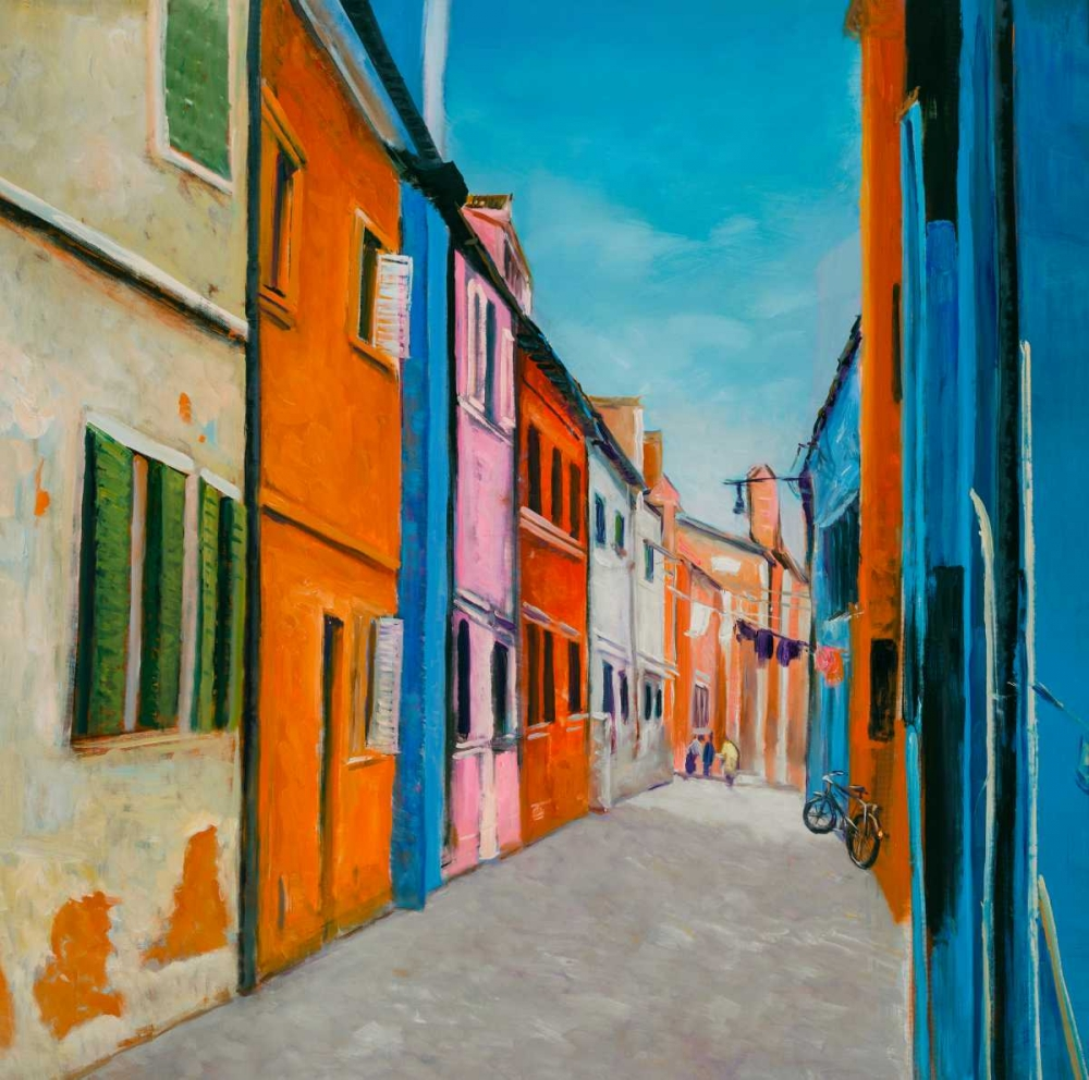 Colorful Houses in Italy poster print by  Atelier B Art Studio