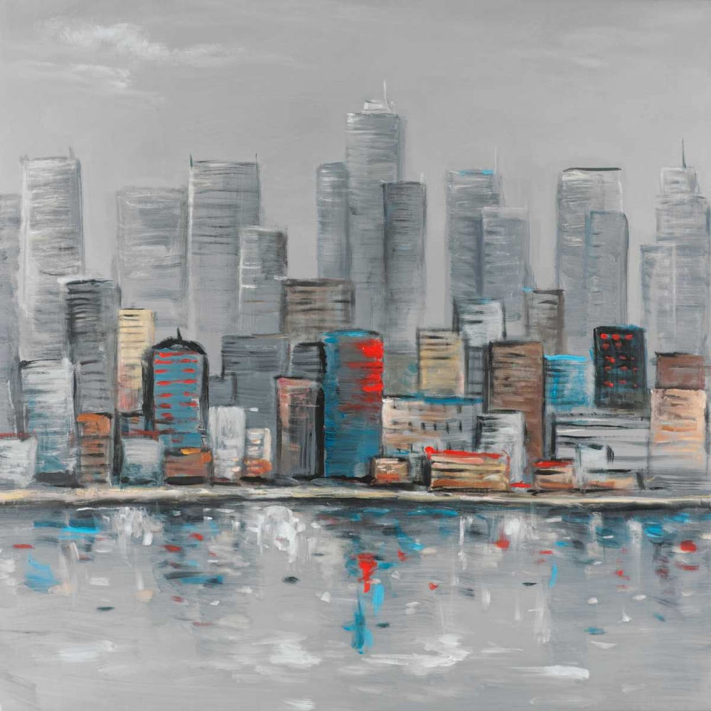 Abstract City Skyline poster print by  Atelier B Art Studio