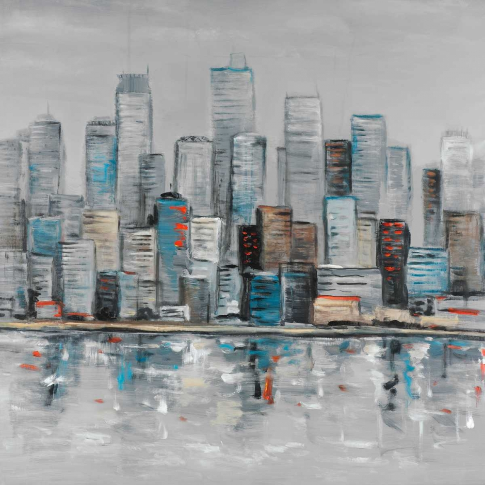 Abstract Urban Skyline poster print by  Atelier B Art Studio