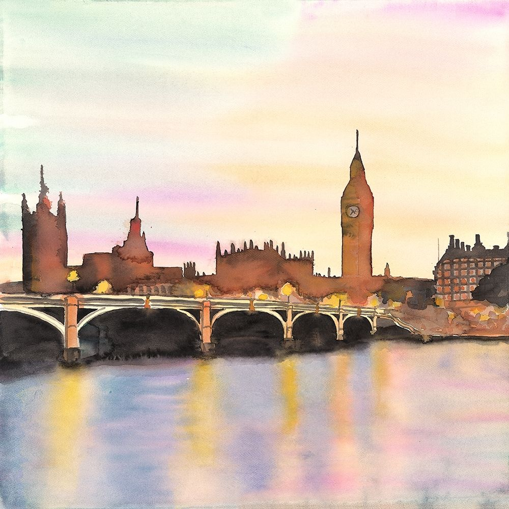SUNSET ON THE BIG BEN poster print by  Atelier B Art Studio