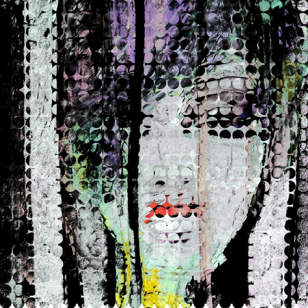 Abstract Colorful Woman Face poster print by  Atelier B Art Studio