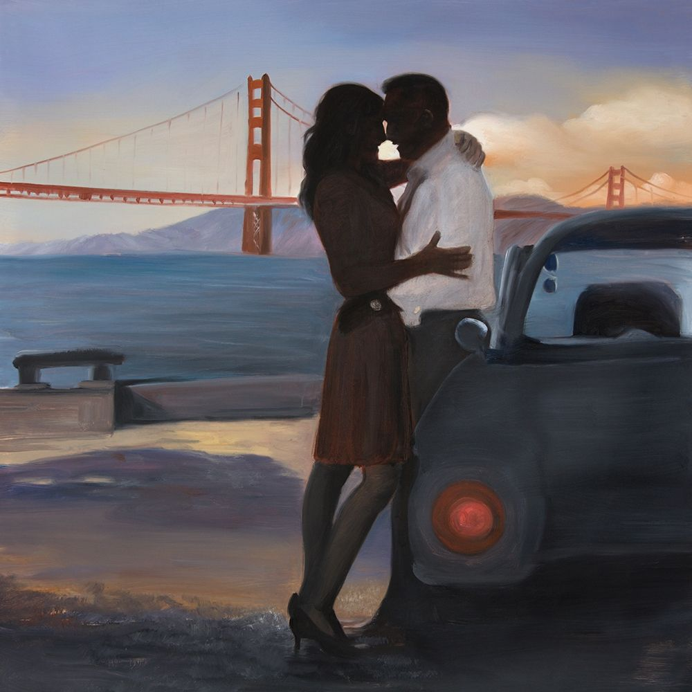 A LOVING COUPLE IN SAN FRANCISCO poster print by  Atelier B Art Studio