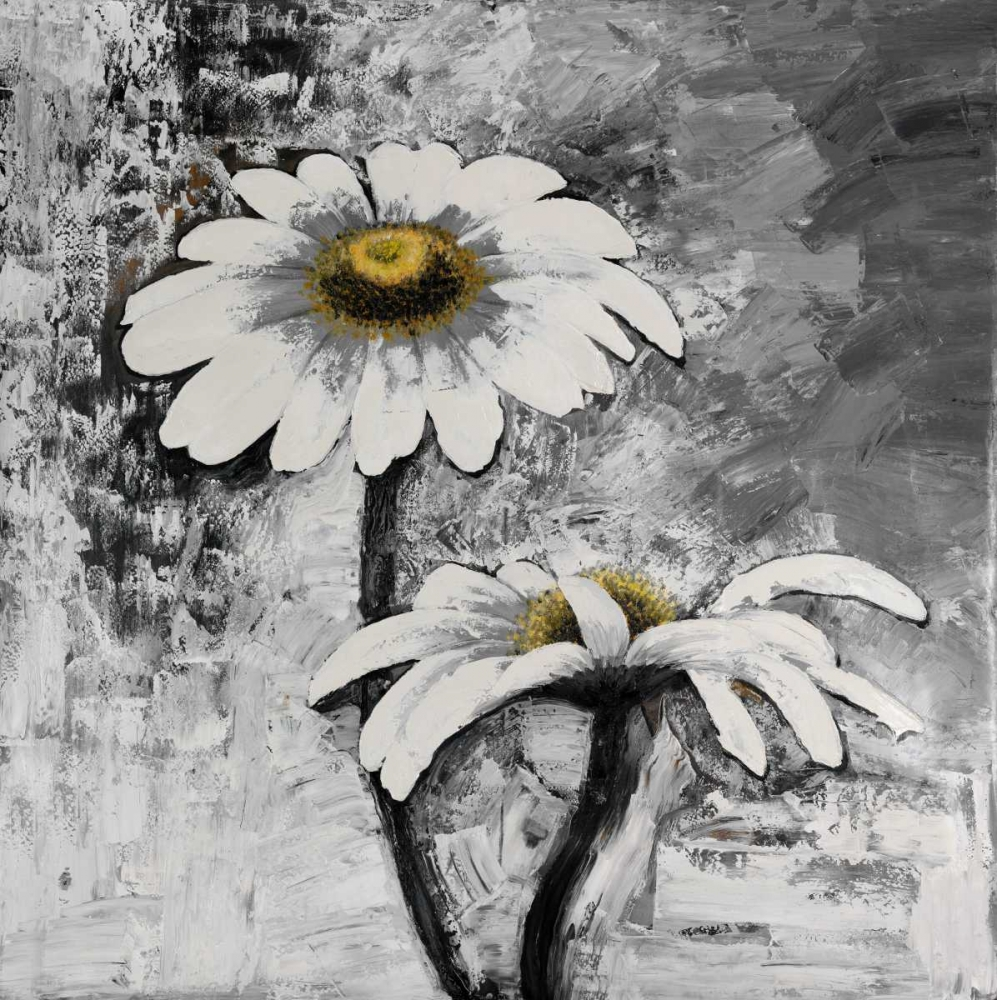 Abstract Daisies Flowers poster print by  Atelier B Art Studio