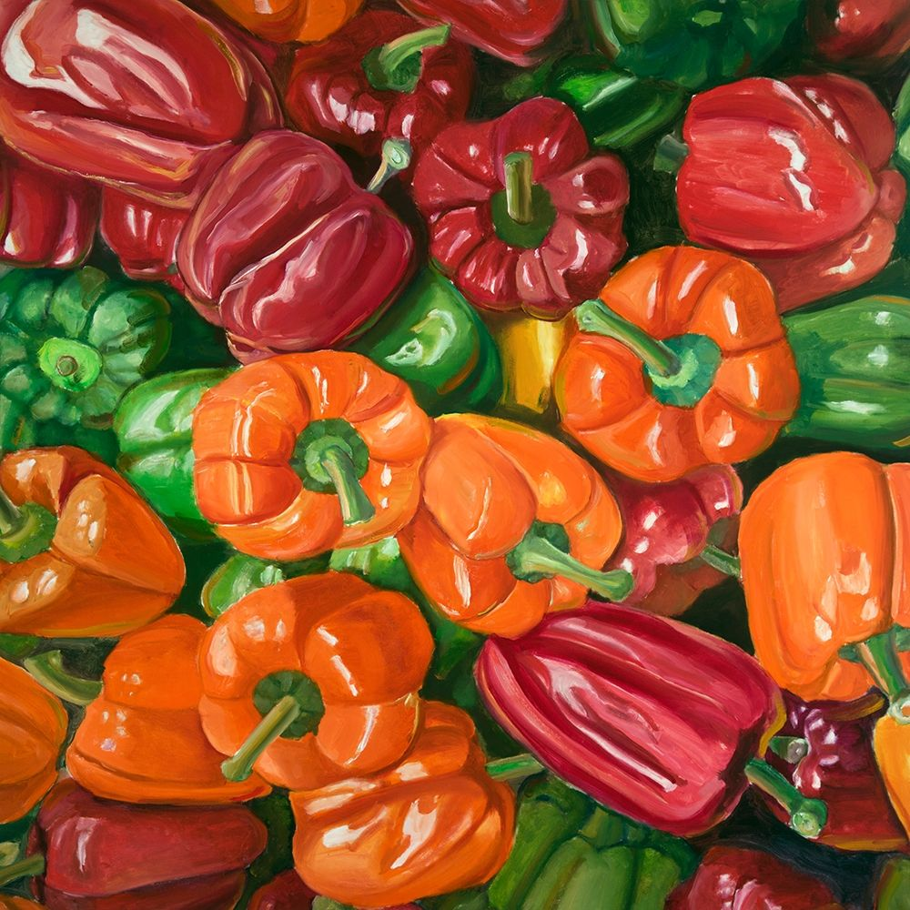 A LOT OF PEPPERS poster print by  Atelier B Art Studio