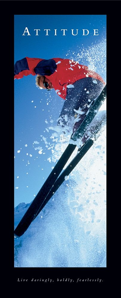 Attitude - Skier poster print by  Frontline