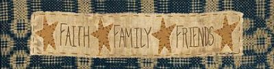 Faith * Family * Friends poster print by Vicki Huffman