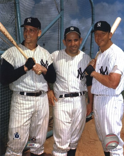 Roger Maris, Yogi Berra, and Mickey Mantle poster print by  Unknown
