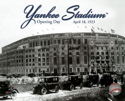 Yankee Stadium 1923 Opening Day With Overlay poster print by  Unknown