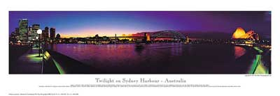 Twilight on Sydney Harbour poster print by Phil Gray