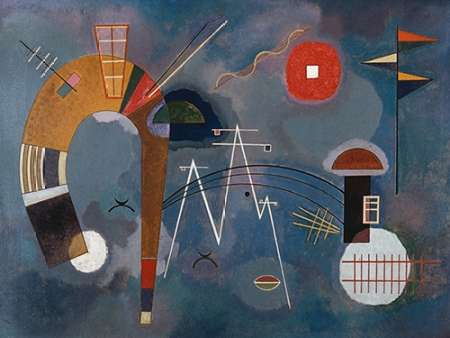 Round and Pointed poster print by Wassily Kandinsky