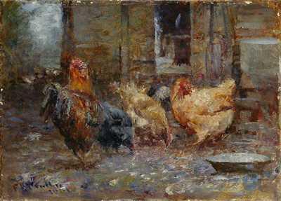 Chickens 1901 poster print by FredrickMcCubbin