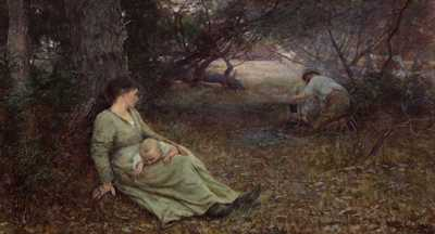 On the wallaby track poster print by Fredrick McCubbin