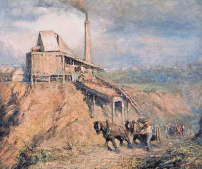 The old stone crusher (The quarry) poster print by Fredrick McCubbin