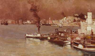 An autumn morning Milson's Point Sydney poster print by Tom Roberts