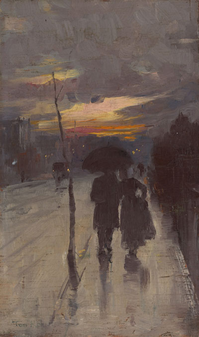 Going home poster print by Tom Roberts
