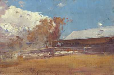 Shearing Shed Newstead poster print by Tom Roberts