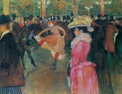 At the moulin rouge the dance 1890 poster print by HenriToulouse-Lautrec