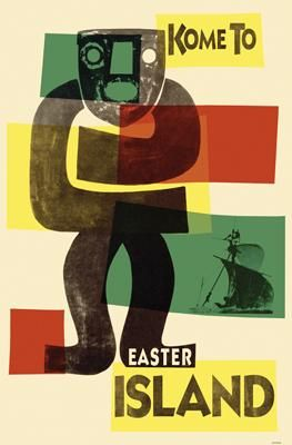Easter Island poster print by Kenneth Ridgeway