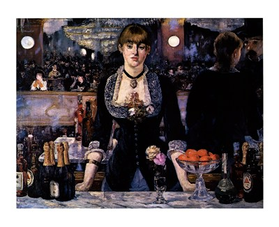 A Bar at the Folies-Bergere poster print by Edouard Manet