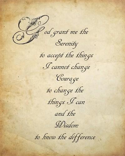 serenity prayer poster print by unknown