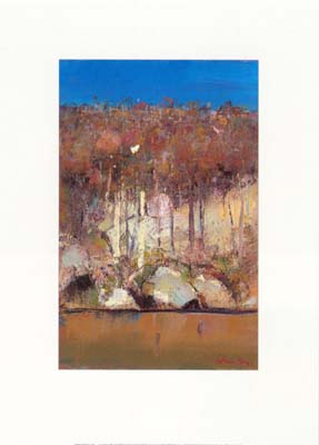 Arthur Boyd - Bird and Trees at Shoalhaven River