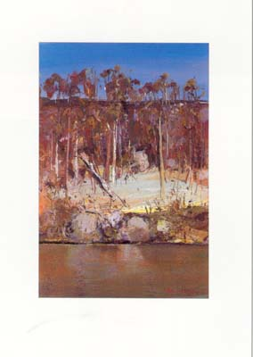 Arthur Boyd - Rocks and Trees at Shoalhaven River