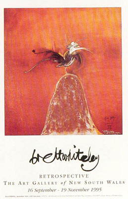 Lyre Bird poster print by Brett Whiteley