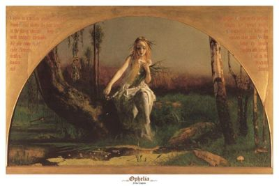 Ophelia poster print by  Hughes