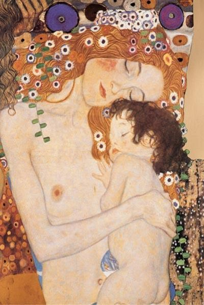 Mother And Child poster print by Gustav Klimt