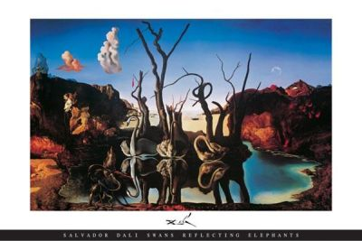 Swans Reflecting Elephants poster print by Salvador Dali