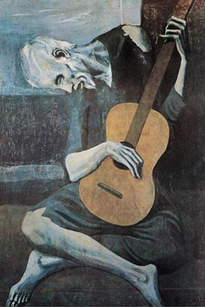 Old Guitarist poster print by Pablo Picasso