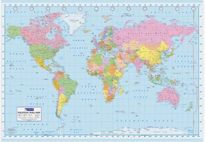 World map political wall map art prints posters picturestore world map political wall map poster print by unknown gumiabroncs Image collections