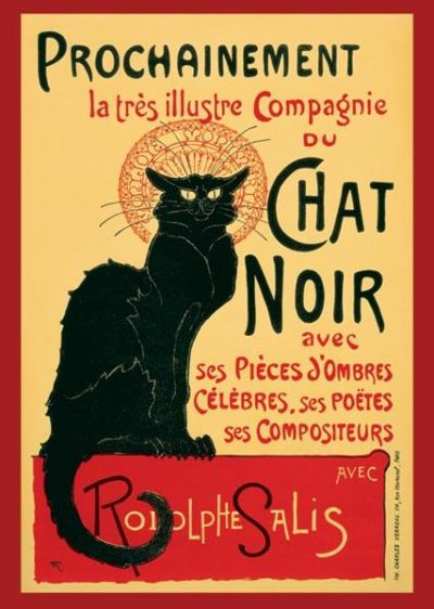 Chat Noir (Steinlein) poster print by  Anonymous