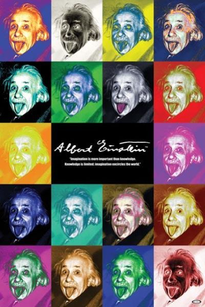Albert Einstein - Pop Art poster print by  Unknown